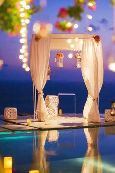 #canopy  Photography: LightedPixels Photography - lightedpixels.com/  Read More: http://www.stylemepretty.com/destination-weddings/2014/01/24/tirtha-luhur-wedding/