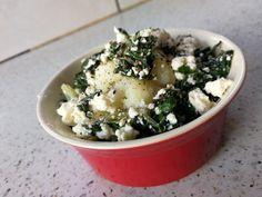 Cauliflower,feta and spinach pot