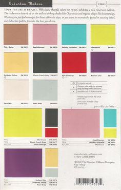 mid-century modern colours