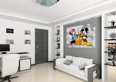 XXL Poster Fototapete Tapete Disney Micky Mouse & Minni & Pluto Foto 160 x 115 cm