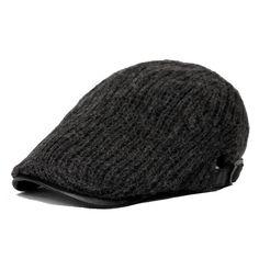 8f8b88195c1cf Aliexpress.com   Buy man rabbit flat cap women winter beret hat female warm  wool bone male knit newsboy chapeau from Reliable cap feeder suppliers on  ...