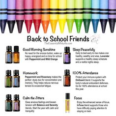 A lot of little (and not-so-little) ones going back to school in a couple weeks here in Australia.... are you prepared parents/carers? Would you like to be? I can help you. I've been amazed at the impact essential oils have had on our lives and would love to share this with you! This applies also to you if your kid is mid-year... is it Winter where you are... maybe you need some OnGuard? or some of our Respiratory Blend? These are only a few of the oils that can be very beneficial to you…