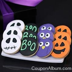 Hand-Decorated Halloween Cookies Repinned By: #TheCookieCutterCompany