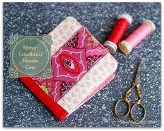 Ribbon embellished needle case tutorial