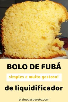 Bolo de fubá no liquidificador - partileira - Easy Smoothie Recipes, Easy Smoothies, Good Healthy Recipes, Snack Recipes, Snacks, Canned Blueberries, Scones Ingredients, Vegan Blueberry, Blueberry Scones