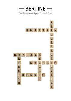 Scrabble-plakat til den moderne indretning