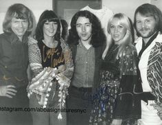 Rory backstage with Abba after the filming of Don Kirshners 'Rock Concert' tv show in LA in November 1975. Thanks to @abbasignaturesnyc on instagram for the photo.