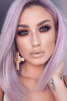 Adorable Day Night Makeup Looks picture 5 night make up 51 Most Amazing Homecoming Makeup Ideas Homecoming Makeup, Homecoming Ideas, Prom Makeup, Wedding Makeup, Lavender Hair, Night Makeup, Long Bob Hairstyles, Long Hairstyle, Laser Hair Removal