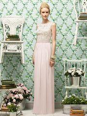 <h5>Description</h5> <ul> <li><span>Lela Rose Style LR182</span></li> <li>Fulllength bridesmaid dress</li> <li><span>Sleeveless bateau neckline</span></li> <li>Daisy bodice over matte satin</li> <li>Slightly shirred crinkle chiffon skirt</li> <li>Matching matte satin belt</li> <li>Skirt, belt and bodice lining always match</li> </ul>