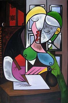 Pablo Picasso, Woman Writing, 1934. Oil on canvas, 162 x 130 cm