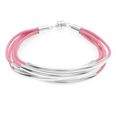 Tutorial - How to: Noodle Bead Bracelet in Pink | Beadaholique