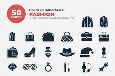 JI-Glyph Fashion Icons Set by Jumbo Icons on @creativemarket   #AI #SVG #EPS #PNG #PSD #icofont #vector #icons #flaticons #glyphicons #jumboicons #bigicons #iconsbundle #detailedicons #awesomeicons #besticons #premiumicons #fashionicons #baseballcapicon #beautyproducts #christmassantahat #clotheshanger #cowboyhat #diamondring #engagementring #femaledress #formalstilettos #gemstonestore #handbag #hat #highheels #investmentpurse #jacketelegantfeminine #jacket #jewelrystone #longearrings