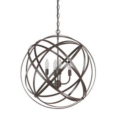 "Capital Lighting 4234 Axis 4 Light Large Pendant | ATG Stores Diameter: 23.5 "" $273 US"