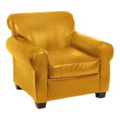 I pinned this Daniel Leather Arm Chair in Mustard from the Loni M Designs event at Joss and Main!