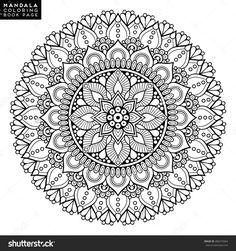 Mandala, Floral Mandala, Flower Mandala, Oriental Mandala, Coloring Mandala, Book Page Mandala, Outline Mandala, Template Mandala Ilustración vectorial en stock 486573964 : Shutterstock