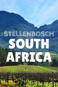 Stellenbosch: Awesome Scenery with Delicious Food and Wine - This region of the… Oh The Places You'll Go, Cool Places To Visit, Visit South Africa, Wine Safari, Out Of Africa, Africa Travel, Australia Travel, Vacation Spots, Wine Recipes