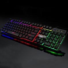 Rainbow BackLight USB Wired 19 Keys Anti-ghosting Mechanical Feel Gaming Keyboard Links to the budget gaming keyboards we listed in this video Midi Keyboard, Bluetooth Keyboard, Computer Keyboard, Keyboard Cover, Gaming Computer Setup, Gaming Room Setup, Computer Gadgets, Logitech, Electronics Sale