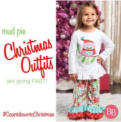 We hope you're checking your list twice this year!! Don't miss out on our adorable and festive collection of Holiday Outfits for your little ones!! • Picture Perfect for those Christmas Card Photos!! • Like this Mud Pie Christmas Owl Pant Set! Hoo says Christmas has to be all red and green?? Let her spirit shine in pink! #BBKids #mudpie #CountdowntoChristmas #christmastimeiscoming www.brandisboutiqueshop.co > Baby/Kids > Holiday Outfits > Christmas