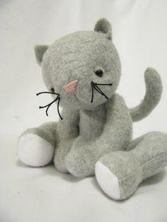 Soft Kitty Plush PDF Pattern by NimblePhish on Etsy, $10.00