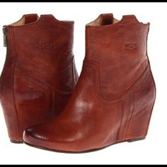 I just discovered this while shopping on Poshmark: Frye Carson Wedge Bootie…