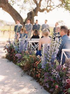 A Flower-Filled Wedding at California's Sunstone Villa wedding aisle A Flower-Filled Wedding at California's Sunstone Villa Wedding Aisles, Wedding Ceremony Ideas, Garden Wedding, Wedding Venues, Wedding Cakes, Wedding Ceremonies, Indoor Wedding, Wedding Reception, Purple Wedding