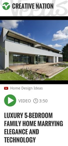 Located in a village near Prague in the Czech Republic, this luxurious five - bedroom family home is not only elegant and welcoming, but also eye - candy for tech - savy folk. Latest environmental d.. | http://veeds.com/i/Rwt2dOqFf0wXoX2X/creativenation/