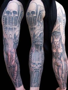 Inked Magazine offers the best tattoo style magazine. Read articles about celebritiesPrice - 1 - iTPJp9pO Hr Giger Tattoo, Giger Art, Dope Tattoos, New Tattoos, Forearm Tattoos, Awesome Tattoos, Tatoos, Gandalf Tattoo, Skull Sleeve Tattoos