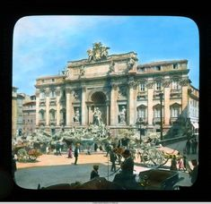 Trevi Fountain: general view from across the piazza :: Branson DeCou Digital Archive Emperor Augustus, Digital Archives, Trevi Fountain, Beautiful Places, Louvre, Rome Italy, Mansions, House Styles, Building