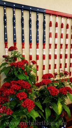 10 ways to repurpose a baby crib - make a patriotic wall hanging