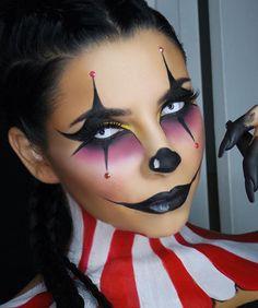 circus Halloween makeup