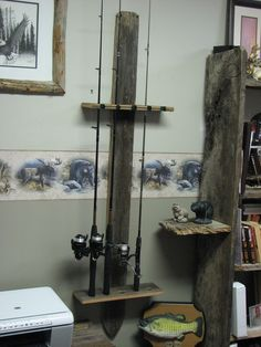 Fishing pole or pool stick holder  $ 30.00