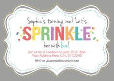 Sprinkle Birthday Party Invitation