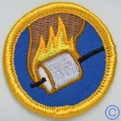 """Just for Fun:  """"demerit badges"""" like this Flaming Marshmallow badge :)"""