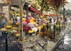 Paris in the Fall 500 Piece Scenic Floral Jigsaw Puzzle