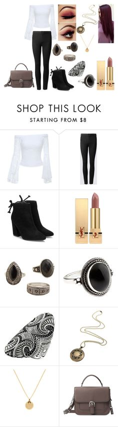 """""""Untitled #625"""" by nerdynerdy on Polyvore featuring Bebe, Yves Saint Laurent, MANGO, Accessorize, Thomas Sabo and Michael Kors"""