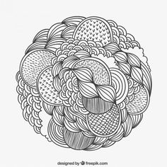Hand drawn patterned circle  Free Vector
