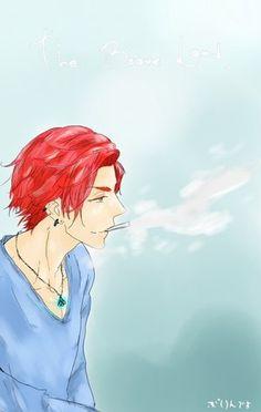 Hetalia Scotland. in this picture he kinda looks like Rin on Free!Iwatobi swim club