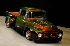 You will ❤ MACHINE Shop Café... ❤ Best of Ford @ MACHINE ❤ (1956 F100 'Water Snake' Paint)