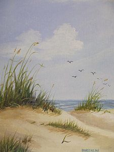 Sand Dunes Sea Oats Painting - Sunshine And Sand Dunes by Wanda Dansereau