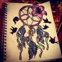 yin yang a lapiz Dream Catcher Tumblr, Dream Catcher Drawing, Dream Catcher Tattoo, Dream Catchers, Beautiful Drawings, Cool Drawings, Yin Yang, Tumblr Drawings, O Tattoo