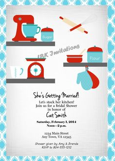 custom stock the kitchen bridal shower invitation on etsy 1500 bridal shower invitations birthday