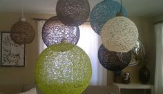 Yarn Light Fixtures diy