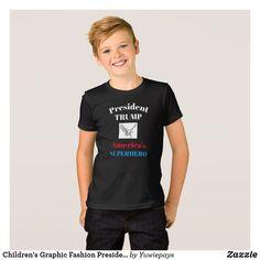 Super Trump Youth T-Shirt MAGA Superhero American President Political Kids Tee