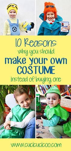 Why it's so much better to make your own costume: 10 life lessons that I learned from my mother and am passing on to my children through homemade costumes! Halloween Sewing, Fall Sewing, Diy Halloween Costumes, Diy Halloween Decorations, Sewing For Kids, Halloween Stuff, Halloween Crafts, Good Tutorials, Sewing Tutorials