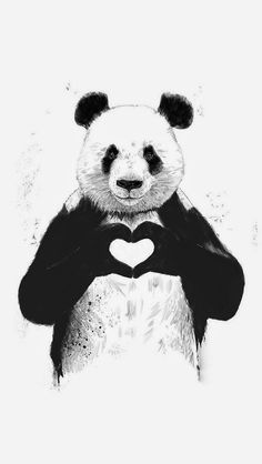 Art And Illustration, Illustration Pictures, Love Canvas, Canvas Wall Art, Painting Canvas, Diy Canvas, Canvas Size, Painting & Drawing, Panda Painting