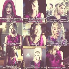 Pretty Little Liars, Hanna's quotes...they're all from like the same episode though. I love hanna!
