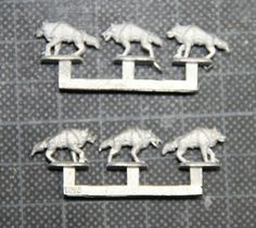 Fan made Fenrisian wolves for Epic 6mm