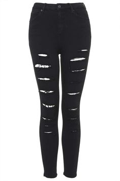 Moto Black Super Ripped Jamie Jeans