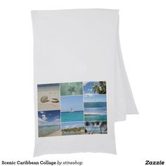 Scenic Caribbean Collage Scarves