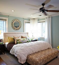 Love the oversized bench at the foot of the bed. Eclectic Bedroom Master Bedroom Design, Pictures, Remodel, Decor and Ideas Bedroom Updates, Bedroom Inspirations, Home Bedroom, Bedroom Makeover, Master Bedroom Update, Bedroom Design, Modern Master Bedroom, Home Decor, Eclectic Bedroom